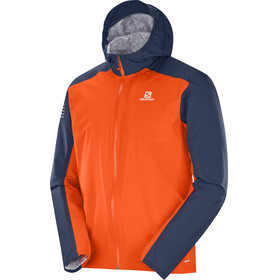 Salomon Bonatti WP Running Jacket Men orange/blue